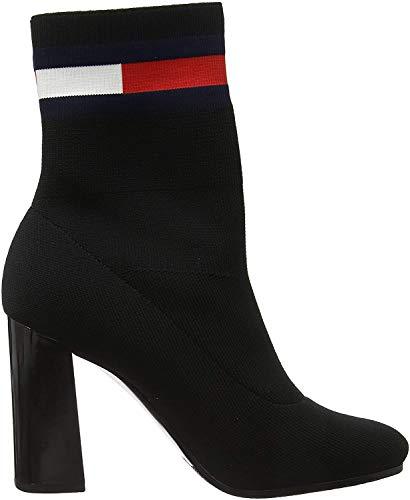Tommy Hilfiger Damen Sock Heeled Boot Stiefeletten, Schwarz (Black Bds), 39 EU