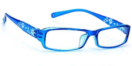 morefaz New Unisex (Damen Herren) Flower Blumen Retro Vintage Lesebrille Brille +0.50 +0.75 +1.0 +1.5 +2.0 +2.5 +3.00 +4.00 Reading Glasses (TM) (+2.5, Blue)