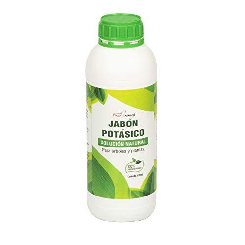 FINCA CASAREJO Jabón potásico de 1 litro - Solución Natural contra Las plagas - Fertilizante orgánico para árboles y Plantas