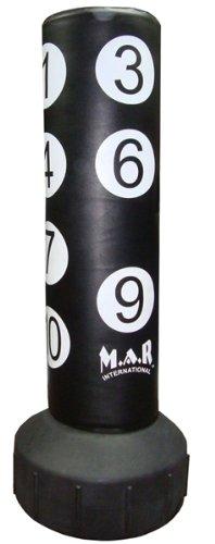 M.A.R International Ltd freistehend Scoring Zonen Boxen Boxsack MMA Nummerierung Kicking Bag Muay Thai Boxsack mit Zahlen Kickboxen Kick Bag Fitness Equipment Training Supplies Impfstoff Uppercut Haken kräftigen schwarz