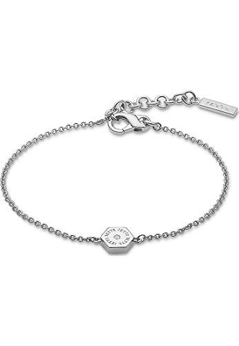 JETTE Silver Damen-Armband Hexagon 925er Silber 1 Zirkonia One Size Silber 32010643