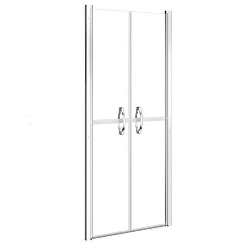 vidaXL Puerta de Ducha Cabina Cuarto de Baño Aseo Mampara Cubículo Accesorio Elegante Moderno Seguridad de Una Capa Transparente ESG 81x190 cm
