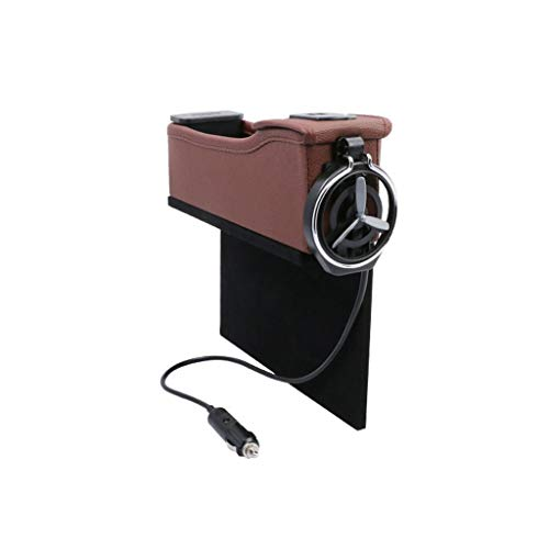 LDG Car Storage Box Sede Crepa Leather Organizer Multifunctionele voor USB/bekerhouder/munten Passenger-b