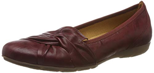 Gabor Shoes Damen Casual Geschlossene Ballerinas, Rot (Dark-Red 55), 43 EU
