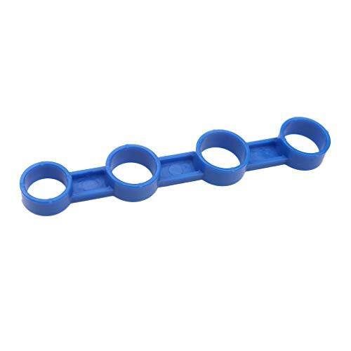 Healifty guitarra acústica expansión de los dedos manga de plástico fuerza de los dedos palpando instrumento musical para principiantes (azul) talla l