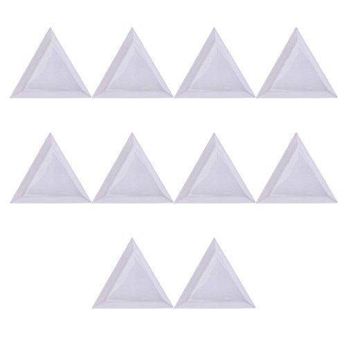 Merssavo Lot de 10 boîtes de Rangement en Plastique pour Clou de clôture Ronde