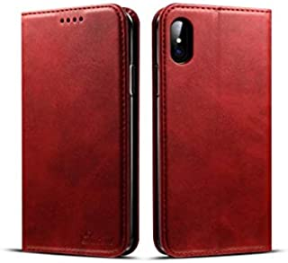 Multifunction iPhone XS Max leather case card holder flip cover business style anti fall phone shell shockproof protective...