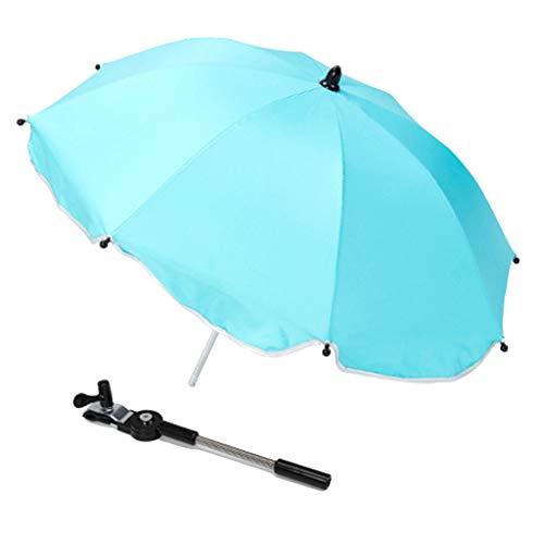 F Fityle Universal Paraguas para Carrito, Sombrilla para Cochecito de bebé, UV 50 + Protección Solar - Azul
