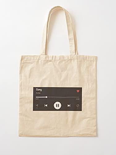 Freak Music Song Bar Lover   Einkaufstaschen aus Leinen mit Griffen aus nachhaltiger Baumwolle
