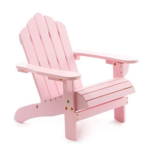 One Couture Chaise pour Enfant, Cèdre, Pastel Rose, 53cm x 49cm x 52,5cm