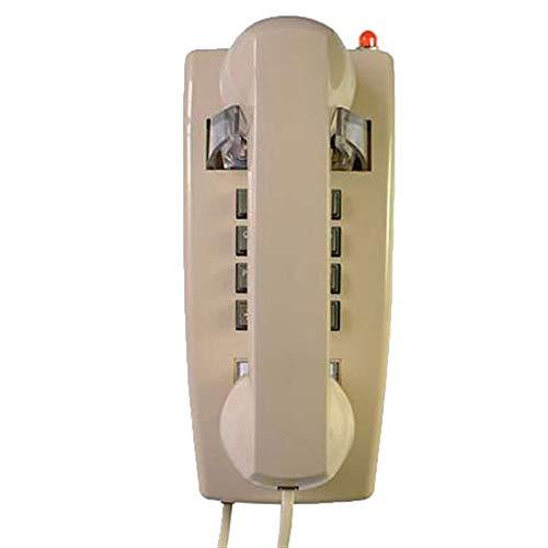 ZARTPMO Teléfono Fijo Teléfono con Cable Teléfono Fijo Teléfono De Pared con Timbre Fuerte Y Control De Volumen del Auricular El Indicador De Llamada Parpadea