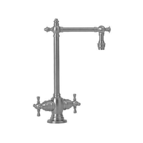 Waterstone 1850-AP Towson Bar Faucet with Double Cross Handles, Antique Pewter