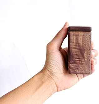 Wood Toothpick Box with New arrival Lid Holders Tank H Max 51% OFF Square