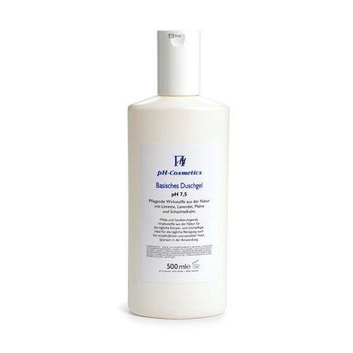 Duschgel, basisch pH 7, 5, ph-Cosmetics, Basen Gel zum Duschen für Haar und Körper, 500 ml