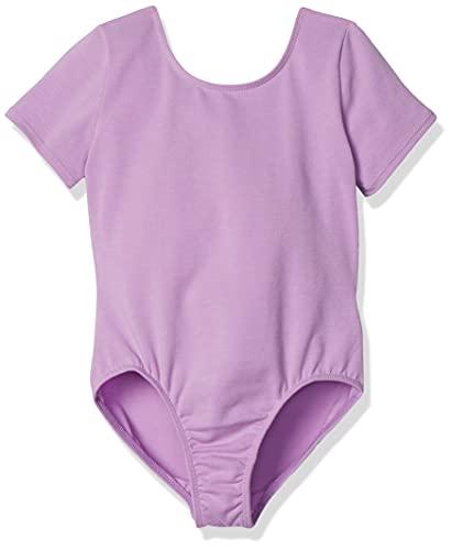 Amazon Essentials Girl's Short-Sleeve Dance Leotard, Powder Lavender, 4T