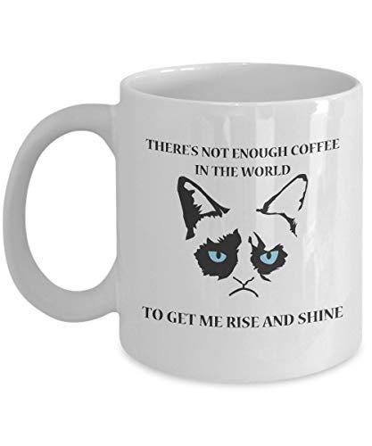 Grumpy Cat Mug-Grumpy Cat Kaffeetasse-Grumpy Cat Merchandise-Ceramic Coffee White Mug -Personalisiertes Geschenk für Geburtstag, Weihnachten und Neujahr-Grumpy Cat No Mug-Es gibt nicht genug Kaffee au