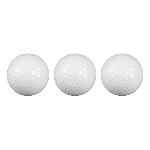 Great Price! Alomejor 3 Pcs Practice Golf Two-Layer Balls Indoor Outdoor Training Aids