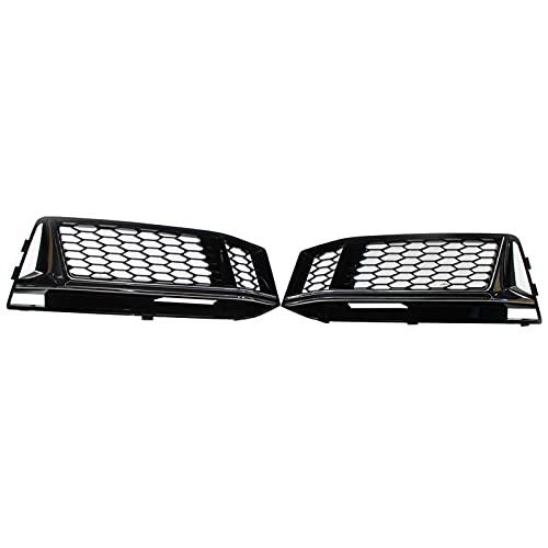 Carrfan Honeycomb - Rejilla de repuesto para faros antiniebla izquierdo y derecho para Audi S4 16-18