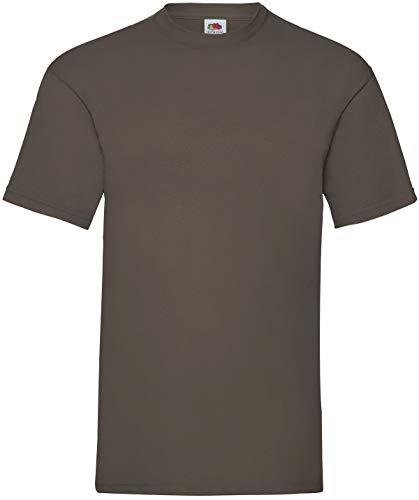 Fruit of the Loom Herren Valueweight Short Sleeve T-Shirt, Schokoladenbraun, XL