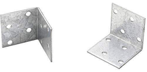 Kraftmann 80934-50 | Winkelverbinder | 50 Stück | 40 x 40 x 40 x 2 mm | Spar-Pack | verzinkt | Lochwinkel