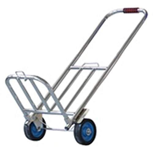 LILICEN Trolley Domestica Pieghevole Muto Trolley Car Carrello Carrello for valigie Camion rimorchio può sopportare Il Peso 75kg Invia 2 Doppio Gancio Elastico Corda Carrello (Colore: Silver)