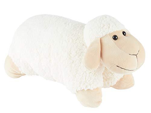 Bieco XXL Schaf Kuscheltier Groß 45 cm Plüschtier Weiß aufklappbar Kinder Kissen Schmusetier,  riesen Kuscheltiere, Plüschtier Groß , Zierkissen, Dekokissen, Lieblingsmensch, sheepworld