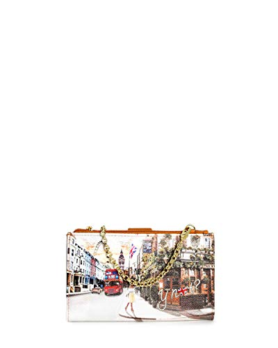 Portafoglio Donna Y NOT? wallet bag-with chain yes-456s0 unica londra