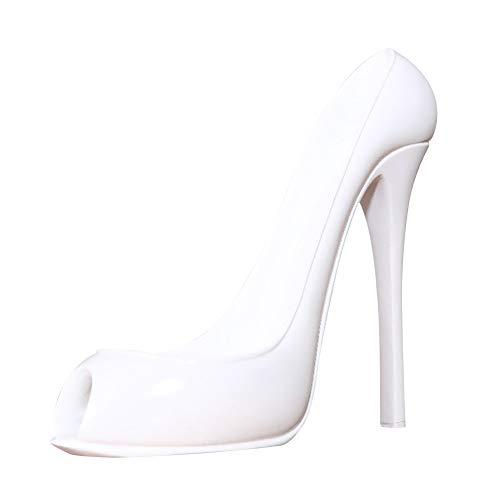 Lionina Botellero con forma de zapato de tacón alto, estante para botellas de vino de resina, elegante diseño, moderno y creativo, decoración para el hogar, bar, hotel