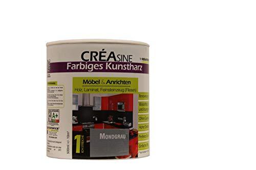 Renicence Creasine 1 K Kunstharz speziell zur Renovierung von Möbel Seidenmatt 0,5 L, Farbe:Baskisches Rot