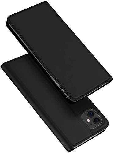 DUX DUCIS Hülle für iPhone 11, Leder Flip Handyhülle Schutzhülle Tasche Hülle für Apple iPhone 11 6,1