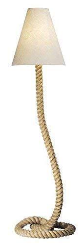 linoows Maritieme vloerlamp, touwlamp, vloerlamp, vloerlamp, heldere kap 155 cm