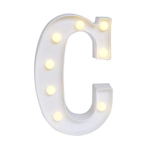 Yolispa Letrero de Luces de Letra Led 26 Letras Iluminadas Luz de Noche para Boda Fiesta de Cumpleaños Lámpara de Navidad