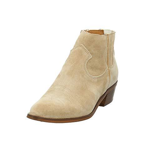 ALPE Damen 4572-11-08 Beigefarbene Veloursleder Stiefelette im Cowboy-Stil Größe 38 EU Beige (Arena)