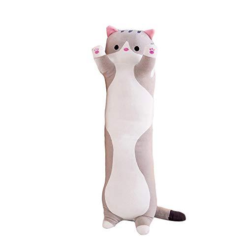 Decdeal Stofftiere Katzen Kissen Kätzchen süße Plüschtier Hautfreundlich ungiftig elastisch es kann Plüschtier Wurfkissen