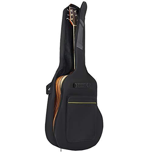 MALATEC Gitarrentasche Gitarrenhülle41''für Akustikgitarre und Klassikgitarrenmit Rucksackgarnitur Wasserdicht Schwarz 7880