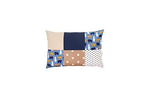 ULLENBOOM ® kussensloop voor kussens voor baby's l 40x60 cm l met ritssluiting l hoes ook geschikt voor sierkussens I zand beer
