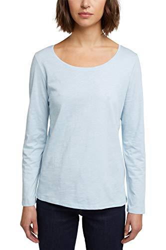 edc by Esprit 100CC1K312 T-Shirt, 438/Pastel Blue 4, M Femme