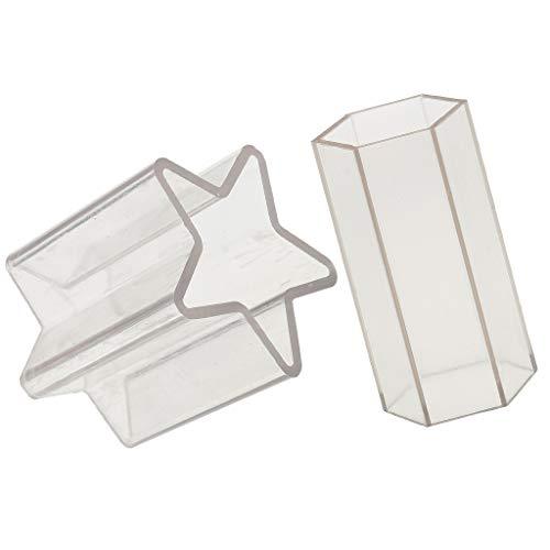 P Prettyia 2pcs Moule à Bougie Plastique Forme Etoile et Hexagone pour Confection de Modélage DIY