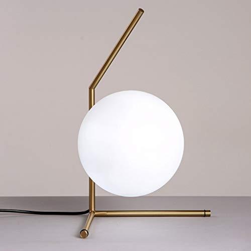 XUSHEN-HU led Lámparas de Mesa, Personalidad Simple nórdicos de la Manera Creativa Esfera de Cristal Tabla Decorativa Luces del Dormitorio de la lámpara de Noche, luz de la Noche de Lectura Interior