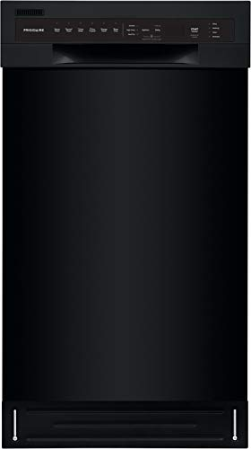 Frigidaire 18 in. ADA Compact Front Control Dishwasher in Black with Dual Spray Arms, 52 dBA, includes room-of-choice delivery
