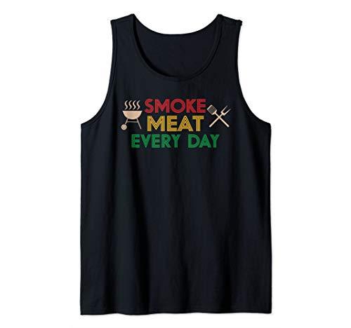 Witziges Smoke meat everyday, Geschenk, BBQ, Grill Herren Tank Top