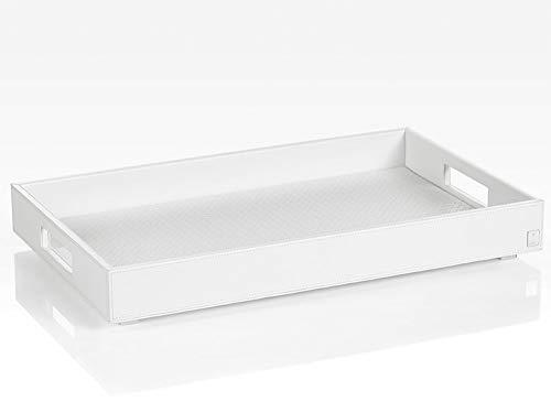 JOOP! HOMELINE, Tablett L für Beistelltisch mit klappbarem Untergestell, Weiss
