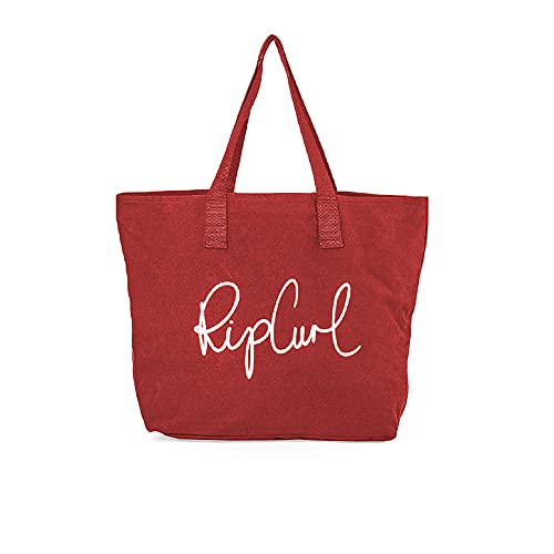 Rip Curl White Wash Basic Tote Womens Beach Bag One Size Red