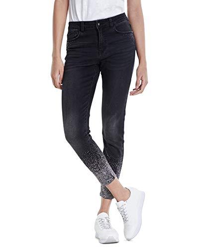 Desigual Damen NOLA Skinny Jeans, Blau (Denim Black WASH 5162), No Aplica (Herstellergröße:24)