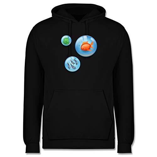Shirtracer Sonstige Tiere - Aquarium Bubbles Fische - L - Schwarz - JH001_Hoodie_Herren - JH001 - Herren Hoodie und Kapuzenpullover für Männer