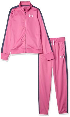 Under Armour Mädchen Trainingsanzug Em Knit Track Suit, Rosa, YLG, 1347741-669