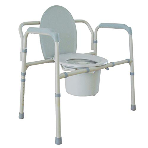 Drive Medical 11117N-1 Drive Medical Bariatric Folding Commode