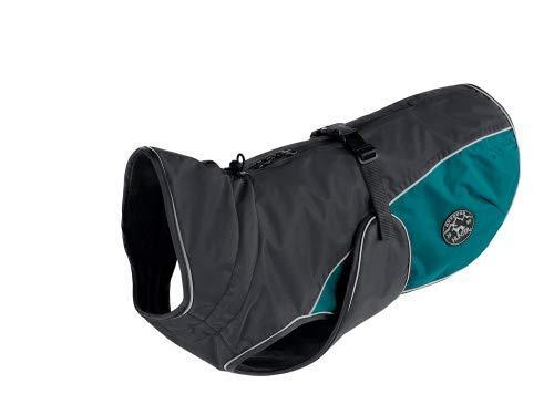 HUNTER - Abrigo para Perro Uppsala Cozy, 30 cm, Color Gris y Verde