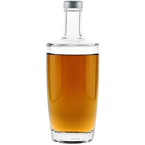 red-bottle Senso Leere Glasflaschen, Schnapsflaschen | 6er-Set | 700ml | klarglas | inkl. Schraubverschluss | Leere Flaschen zum befüllen