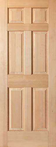 Solid Hemlock 6-Panel Interior Wood Doors, Pocket Sliding Door, Unfinished, (30